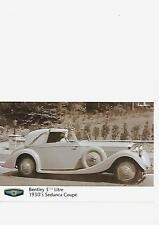 BENTLEY 1930's 3 1/2 LITRE SEDANCA COUPE PUBLICITY PRESS PHOTO BROCHURE RELATED