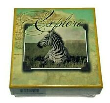 National Geographic 3 Pack Zebra Themed Nested Boxes (New)