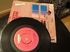 """F R DAVID . WORDS .  Classic 1980's  7"""" vinyl .  EX"""