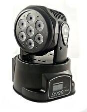 PROIETTORE LED RGB TESTA ROTANTE MOBILE EFFETTI DISCO 7 LED 10W Led wash DMX