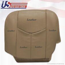 2003 2004 Chevy Silverado truck Driver Bottom Leather Seat Cover Tan