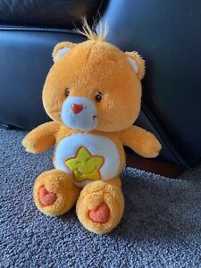 "13"" 2003 Care Bears Laugh A Lot Bear. Orange Star Plush"
