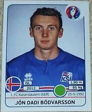 623 Jon Dadi bodvarsson Islandia Pegatina Panini Euro 2016 Francia