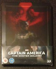 CAPTAIN AMERICA WINTER SOLDIER 3D Blu-Ray SteelBook Lenticular Zavvi UK OOP Rare