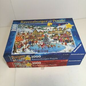 "Lot of 2 Ravensburger Limited Edition - ""Joy Of Christmas"" - 1000 Pieces Puzzles"