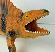 "Spinosaurus Action Figure LARGE 17"" Long PVC 1997 Dinosaur Mouth Open #0725"