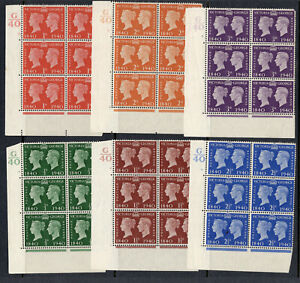 1940 Stamp Centenary cylinder blocks.