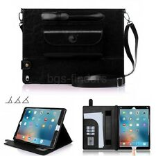 Travel Business Case for iPad Pro 12.9 Cover Protective Genuine Leather Black