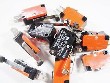 10 x interruptor endschalter sonda con papel 1xum 250v 15a langer palanca #9s69#