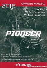 2016 Honda Sxs700 Pioneer Utv Owners Manual : 31Hl3620