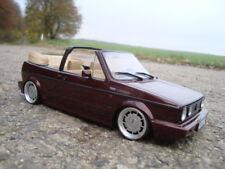 1:18 VW Golf 1 Cabrio Tiefer Tuning mit 15 Zoll Pirelli Echt Alu Felgen