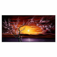 CHOP861 charming hand painted flowers tree landscape oil painting art on canvas