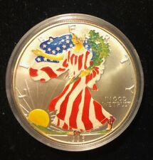 1996 Colorized Key Date 1 Ounce .999 Silver Dollar in Plastic Case