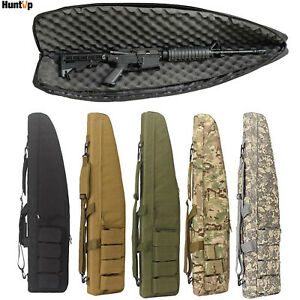 """39"""" 47"""" Tactical Gun Bag Heavy Duty Padded Long Hunting Rifle Soft Case Backpack"""