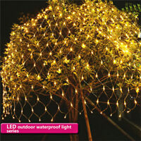 Waterproof LED Net Mesh Fairy String Party Lights Lamp Xmas Christmas Decor