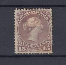Canada QV 1868 15c Greyish Violet MH JK563