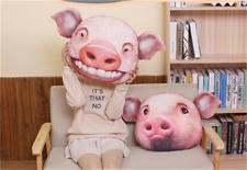 Stuffed Animal Pig Plush Pillow 3D Printing Cartoon Cushion Kids Doll Gift