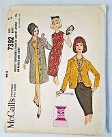 McCall's 7392 Vtg Coat Jacket Dress Blouse Skirt Sewing Pattern 1964 Uncut Sz 14