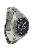 Fila FA0795-31 Men's Stainless Steel & Black Chronograph Analog Watch