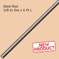 Stainless Steel Solid Round Stock 3/8 Inch x 6 Ft Unpolished  72 Inch Long Rod