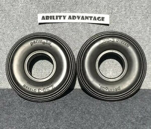2 NEW Permobil Brand F3, F5, M5 SOLID BLACK TIRES for CASTERS 210 x 65 (2.50-3)