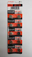 10 NEW Maxell LR1130 189 389 LR54 SR1130SW AG10 Alkaline Battery FREE SHIPPING