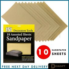 Sandpaper 10 Sheets Of Sand Paper Available In Course Medium & Fine Glasspaper