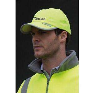 Custom Printed Result Headwear Hi-Vis Cap Reflective Visibility Safety