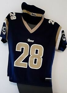 NFL Reebok Women's Marshall Faulk Jersey Size M Rams & Beenie & Short Shorts M