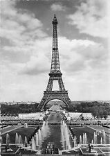 B97775 les grandes eaux au palais de chaillot et tour eiffel real photo  france
