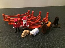 PLAYMOBIL JOBLOT BUNDLE FENCES FIGURES HORSE SHEEP BUNNY RABBIT