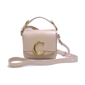 Chloe 2way shoulder hand bag CHC19US193A37290 Cowhide calf leather Beige Used