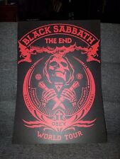 Black Sabbath Poster The End Tour Concert tour poster 2016 tour