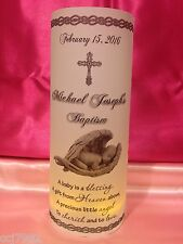 10 Personalized Baptism Christening Luminaries Table Centerpieces Decorations #2