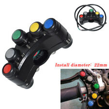 12V/10A 7/8'' Handlebar Moment/Latching 7 Buttons ATV Motorcycle Switch Assembly