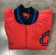 Crooks & Castles Quilted Bball Jacket In Rd/Nvy Sz. 2xl 100% Authentic