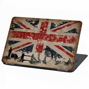 """Laptop Film Sticker 13 """" -17 """" Inch Skin Vinyl Notebook LP11 Union Jack"""