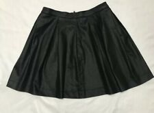 FC Jeans Women's  Black Faux Leather Skirt Everyday Or Special Ocassion Vintage