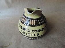 Ancien pichet tonneau cruche eau Imprimerie du Commerce Quimper