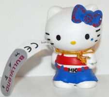 Hello Kitty Blue Bow Punk Outfit 2 inch Plastic Figurine Sanrio Figure