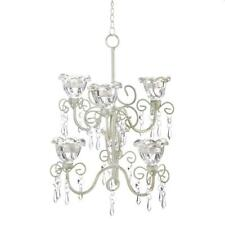 Crystal candle chandeliers ebay home locomotion crystal blooms double chandelier aloadofball Image collections