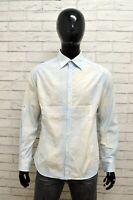 Camicia DANIELE ALESSANDRINI Uomo Taglia Size L Maglia Shirt Man Cotone Slim Fit