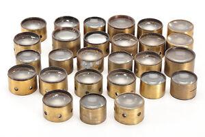 Lotto 27 lenti - condensatori in ottone per vecchi proiettori - Vintage