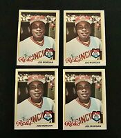 Lot of 4 1978 O-Pee-Chee baseball cards of Joe Morgan #160 EX/NM to NM cond