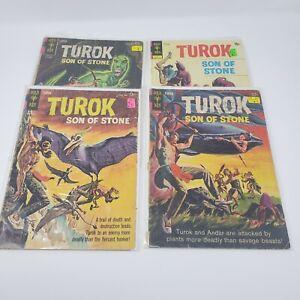 Gold Key Turok Son of Stone Comics ~ Lot of 4 ~ 1964 / 1973 ~ #301 409 411 505