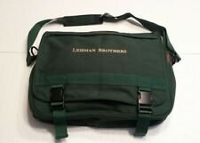 Lehman Brothers | Messenger Bag | Corporate Business Travel Carry On | Green