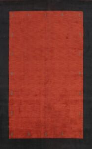 Bordered Gabbeh Oriental Area Rug Wool Hand-knotted Living Room Carpet 8x12 New