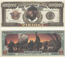 Vikings Million Dollar Bill Collectible Fake Play Funny Money Novelty Note