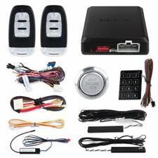 Security Pke car alarm system passive keyless entry remote start push button 12v