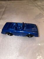 Vintage TOOTSIETOY MERCEDES BENZ Blue convertible die cast toy car